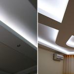 Подсветка потолка светодиоидной лентой — возможность освещения любой конфигурации
