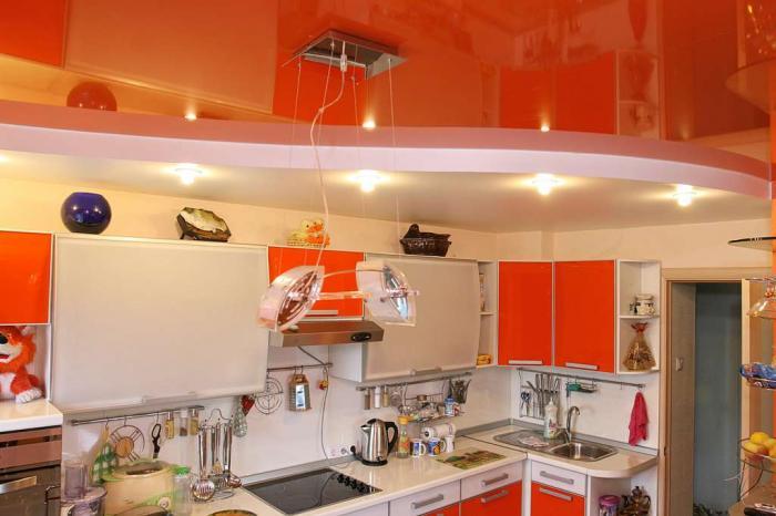 Какой потолок сделать на кухне