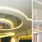 Декорируем потолки из гипсокартона подсветкой