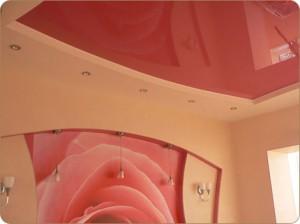 натяжной потолок, глянцевый потолок