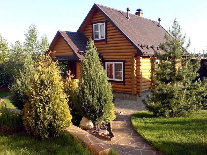 Частного дома в деревне своими руками фото