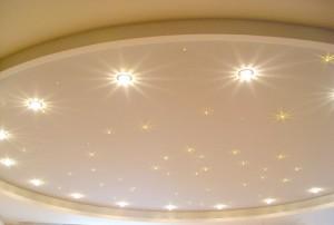 лампочки для натяжных потолков, освещение для натяжных потолков