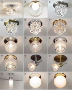 встроенные светильники для натяжных потолков, фото