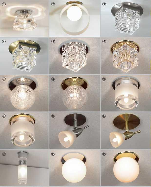встроенные светильники для