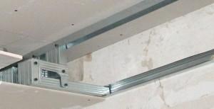 потолок из гипсокартона, каркас, фото