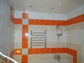 потолок в ванной, фото