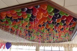 шары на потолок, фото, оформление