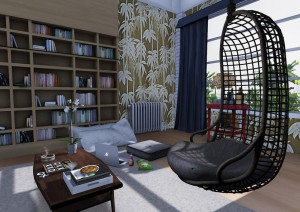 подвесные кресла, к потолку, фото