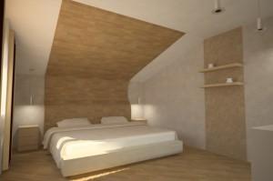 ламинат на потолке, фото