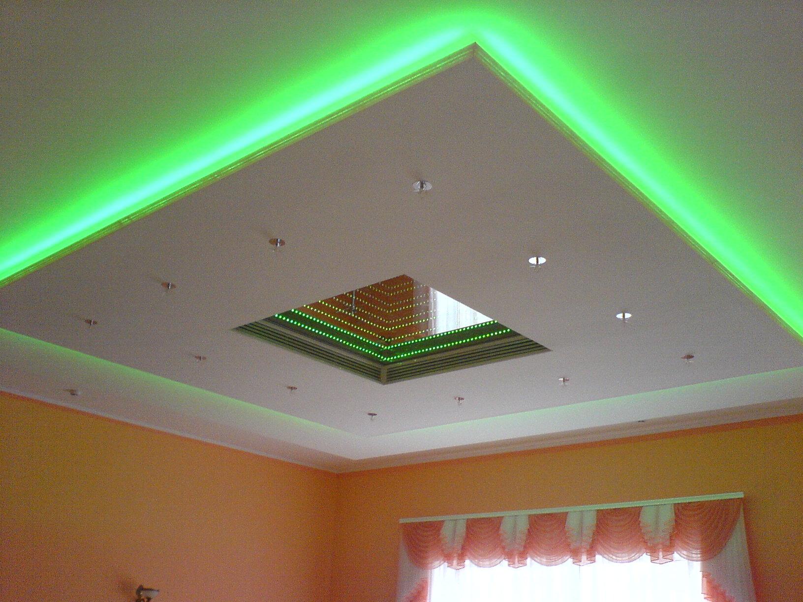 Как сделать потолок с подсветкой своими руками