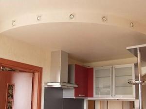 оформление потолка, на кухне, фото
