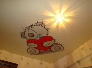 оформление потолка в детской, фото