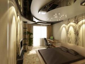 оформление комнаты, низкий потолок, фото
