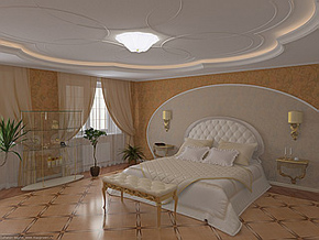 Оформление потолков в квартире - в гостиной, в спальне