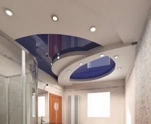 оформление многоуровневого потолка. фото