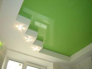 виды натяжных потолков, глянцевый потолок, натяжной, фото