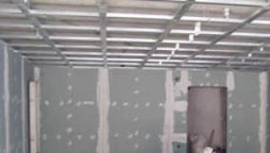 крепление гипсокартона к потолку на профиль, фото