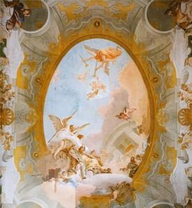 фрески на потолке, в интерьере
