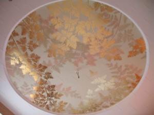 потолочная фреска, в интерьере, фото