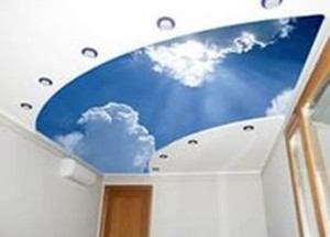 пример потолка, фотообои небо